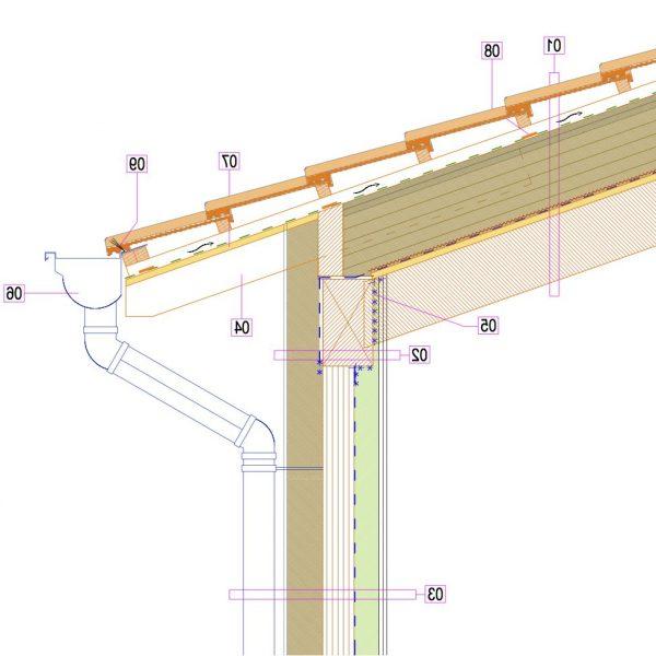 tetto fibra legno